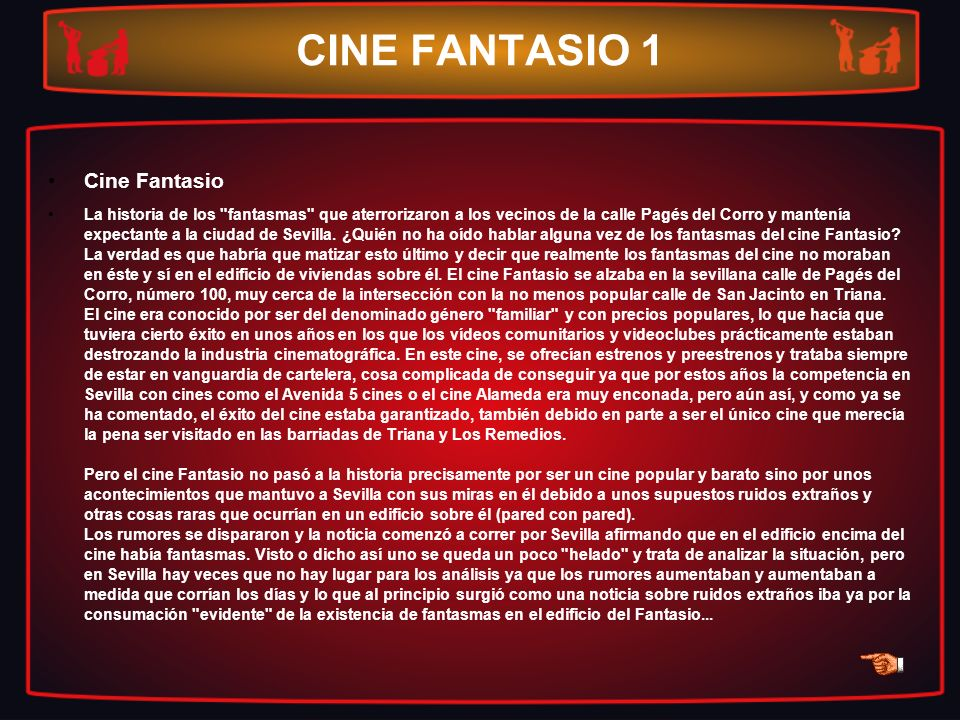 CINE FANTASIO 1 Cine Fantasio La historia de los