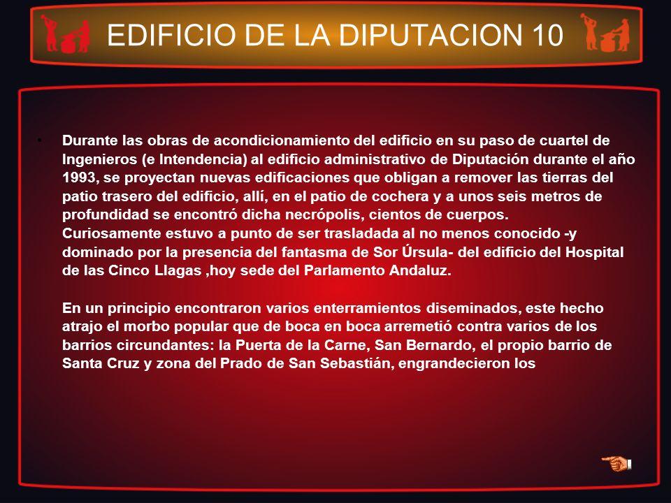 EDIFICIO DE LA DIPUTACION 10 Durante las obras de acondicionamiento del edificio en su paso de cuartel de Ingenieros (e Intendencia) al edificio admin