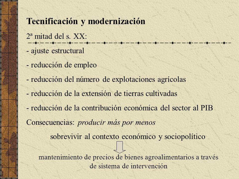 Tecnificación y modernización 2ª mitad del s.