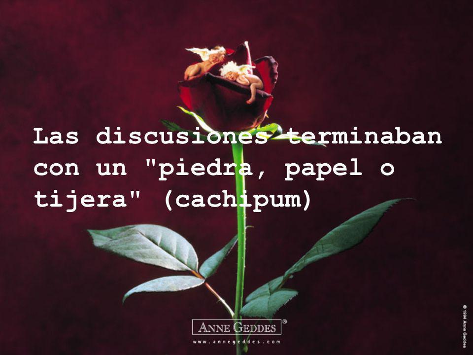 Las discusiones terminaban con un piedra, papel o tijera (cachipum)