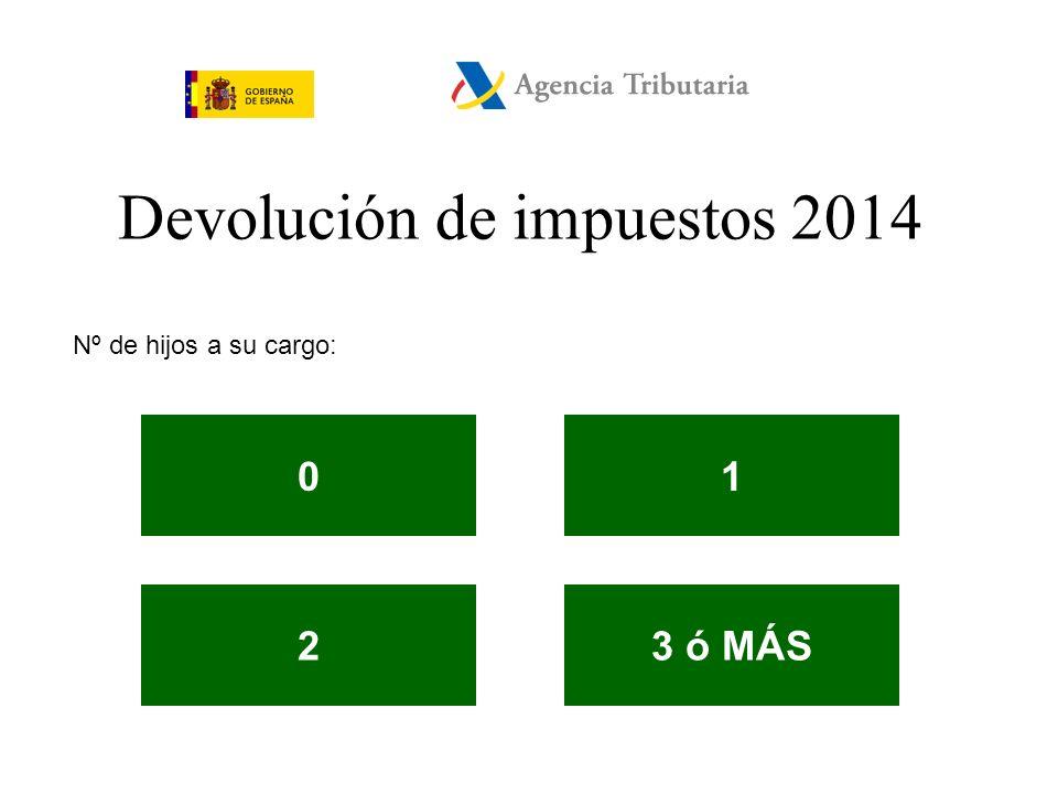 Devolución de impuestos 2014 Estado civil: SOLTEROCASADO