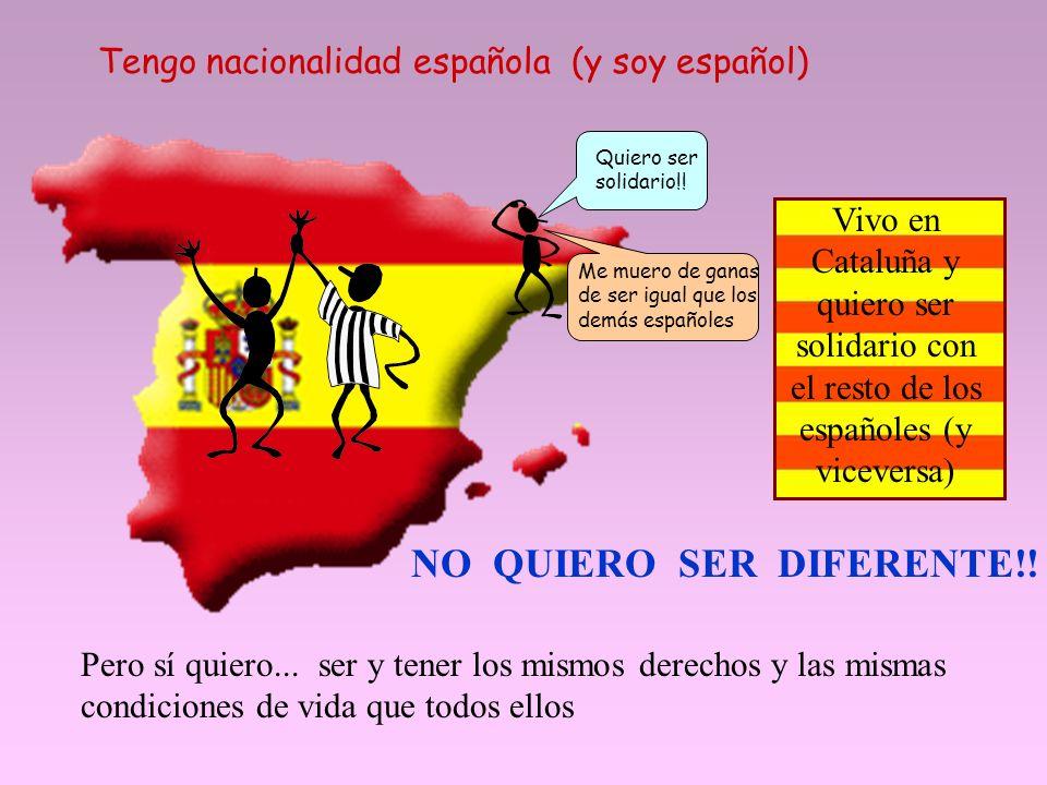 Quiero ser solidario!.Tengo nacionalidad española (y soy español) NO QUIERO SER DIFERENTE!.