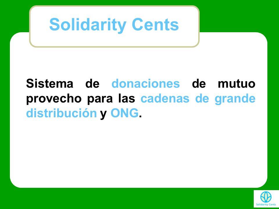 Sistema de donaciones de mutuo provecho para las cadenas de grande distribución y ONG. Solidarity Cents