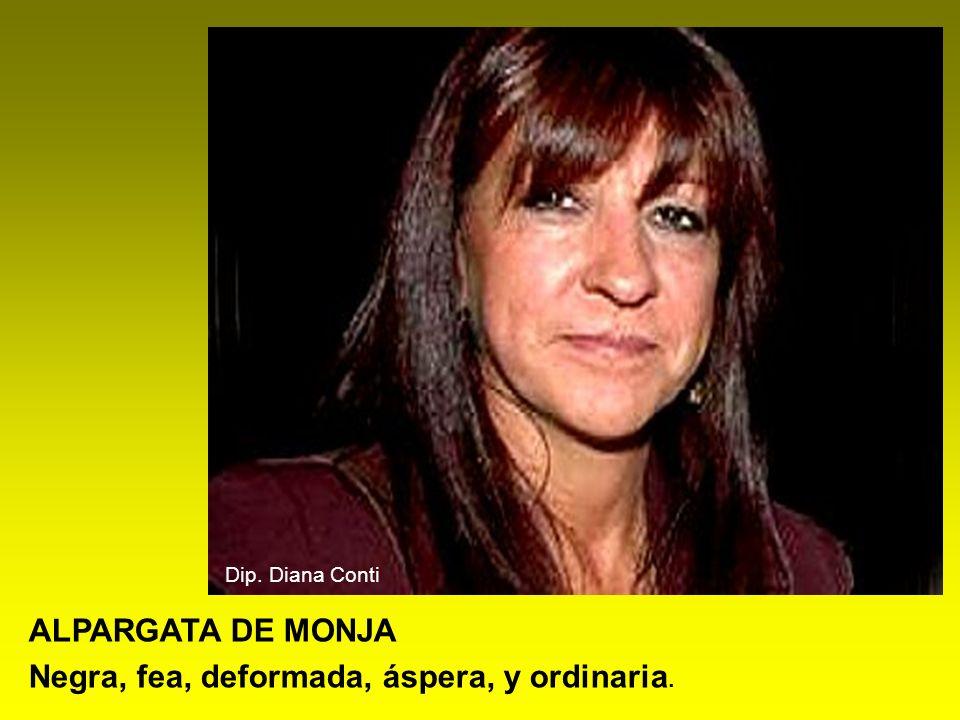 ALPARGATA DE MONJA Negra, fea, deformada, áspera, y ordinaria. Dip. Diana Conti