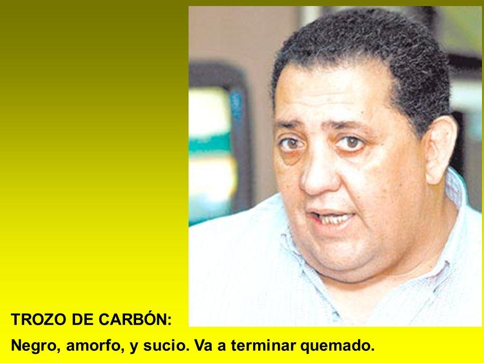 TROZO DE CARBÓN: Negro, amorfo, y sucio. Va a terminar quemado.