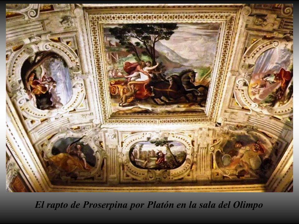 Fres- cos del techo de la saleta del Olim- po