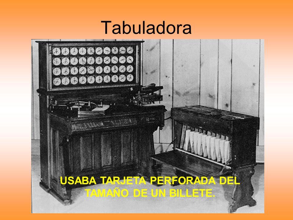 Tabuladora USABA TARJETA PERFORADA DEL TAMAÑO DE UN BILLETE.