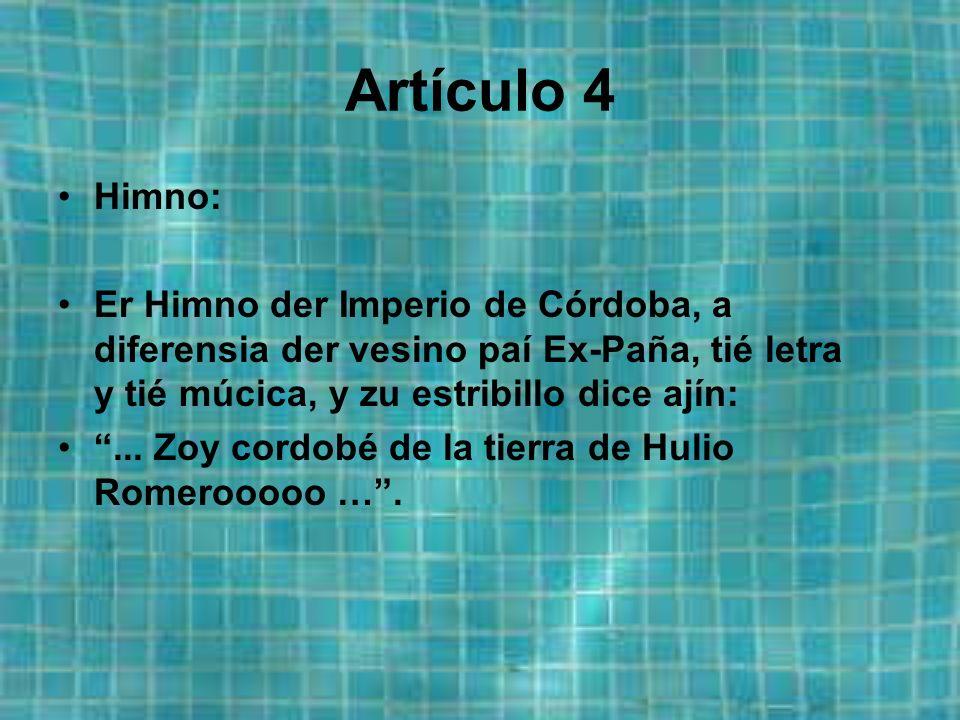 Artículo 3 Ezcuo: Eztará compuezto por una imahen de la ciudá con el ezcuo der Córdoba C.F.