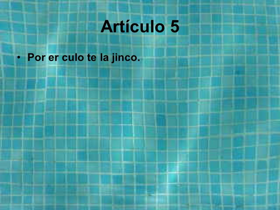 Artículo 4 Himno: Er Himno der Imperio de Córdoba, a diferensia der vesino paí Ex-Paña, tié letra y tié múcica, y zu estribillo dice ajín:...