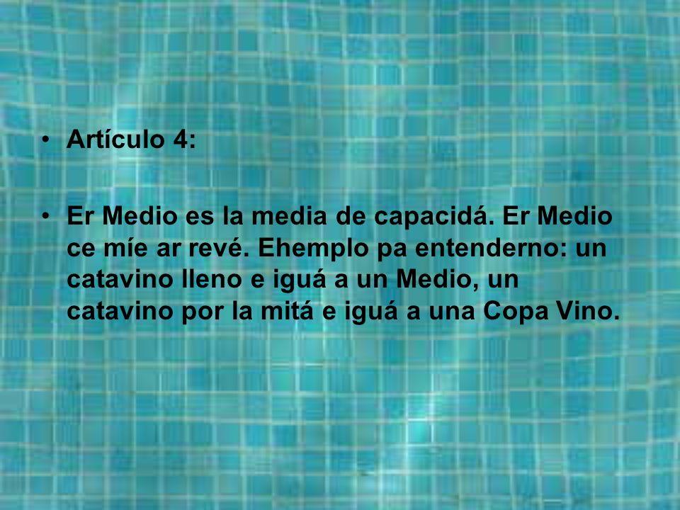 Artículo 3: La Mijita o Poquillo ce divide en 10 Miaja.