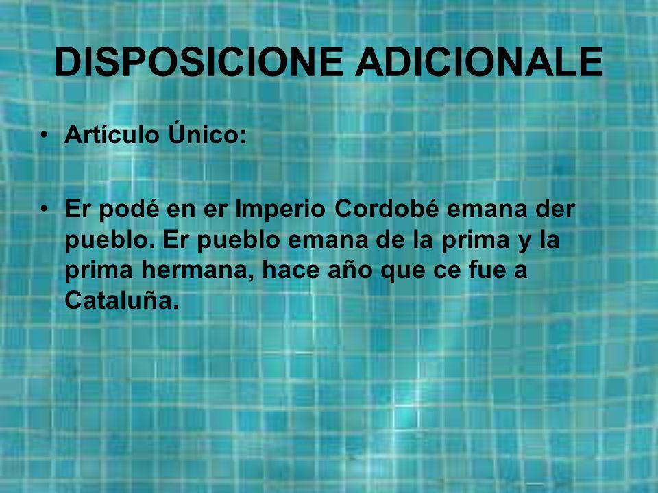 Artículo 7: La comía nasioná eh er Gazpacho, y er Rabo Toro, er Flamenquín, lo Callo, er Cosío con zu Pringá, el Pero en lo Villare y el Manolete como plato de la gastronomía nasioná.