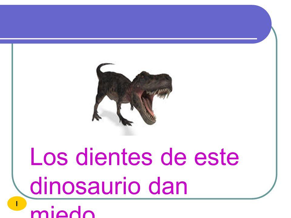 Con el dinero compro diez dinosaurios I