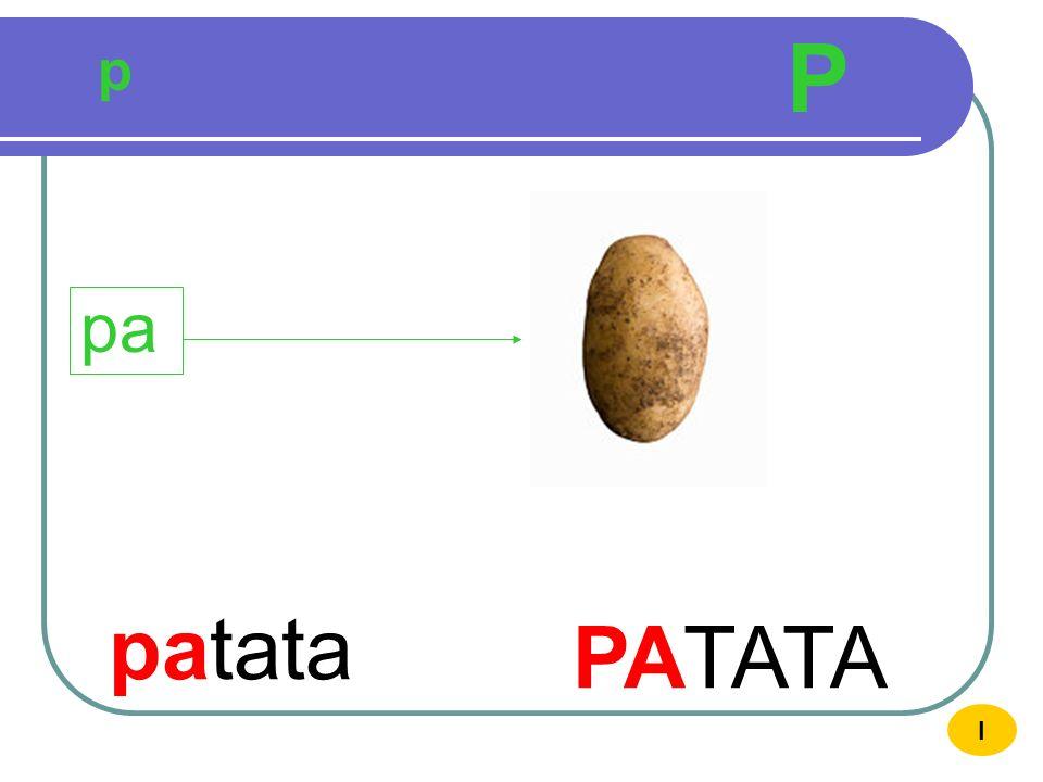 p P patata PATATA pa I
