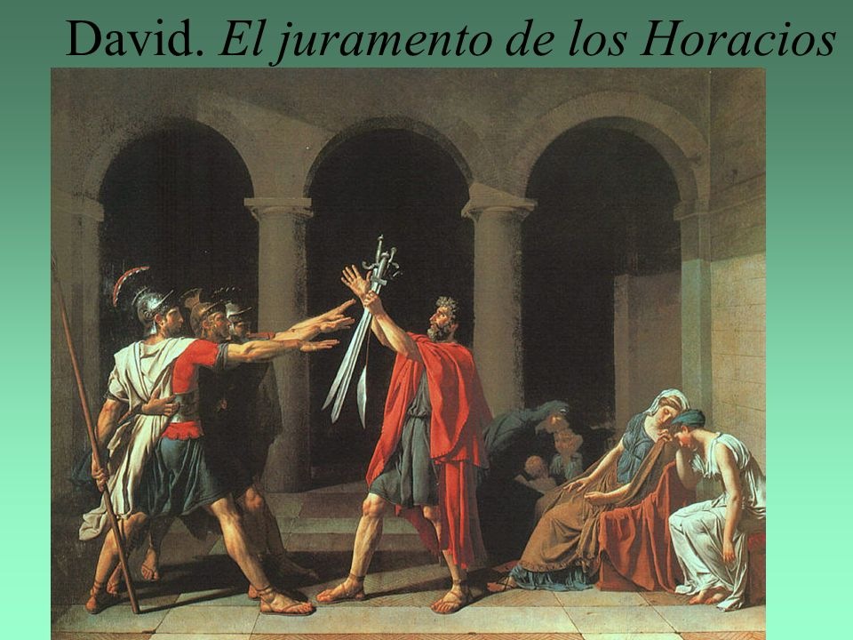 David. El juramento de los Horacios