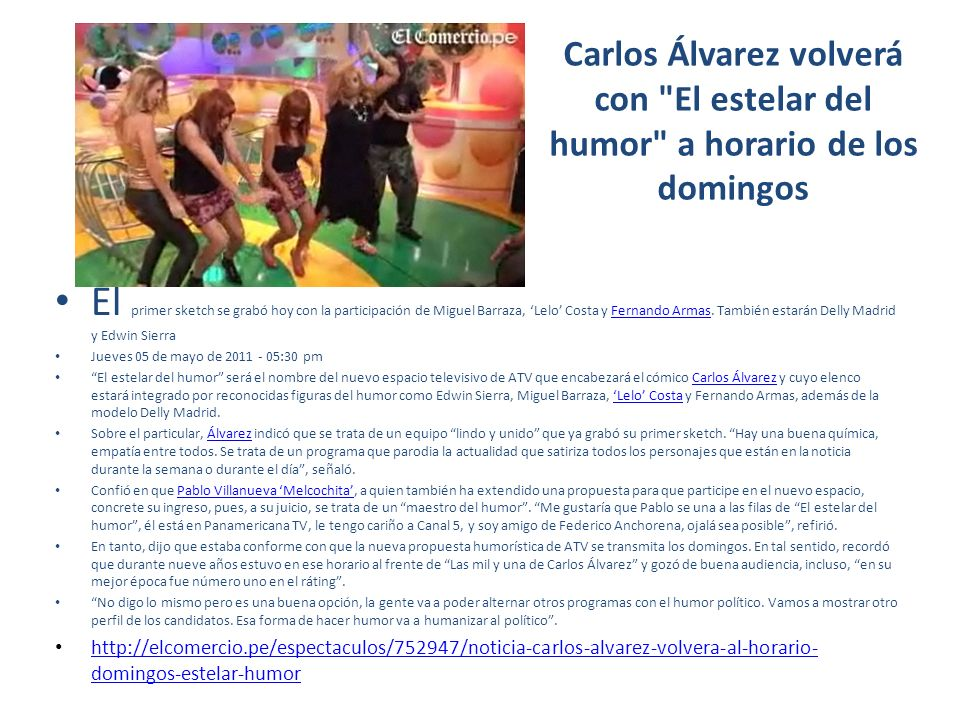 Carlos Álvarez volverá con