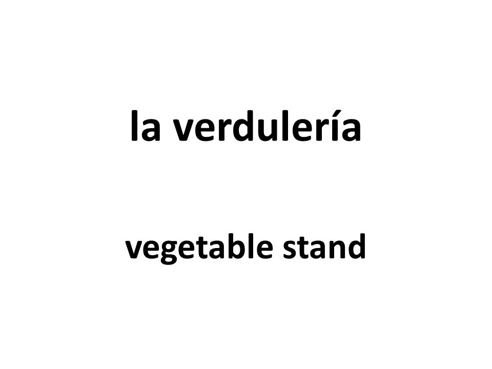 la verdulería vegetable stand