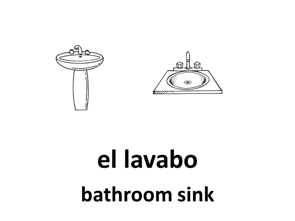 el lavabo bathroom sink