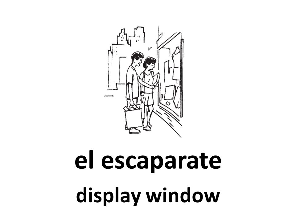 el escaparate display window