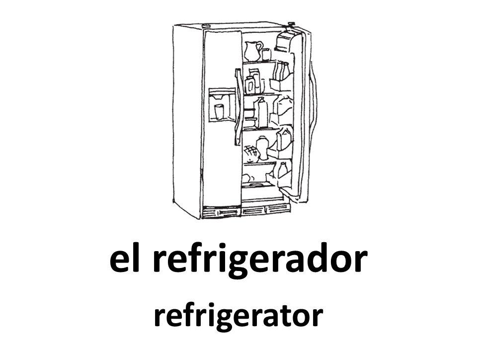 el refrigerador refrigerator