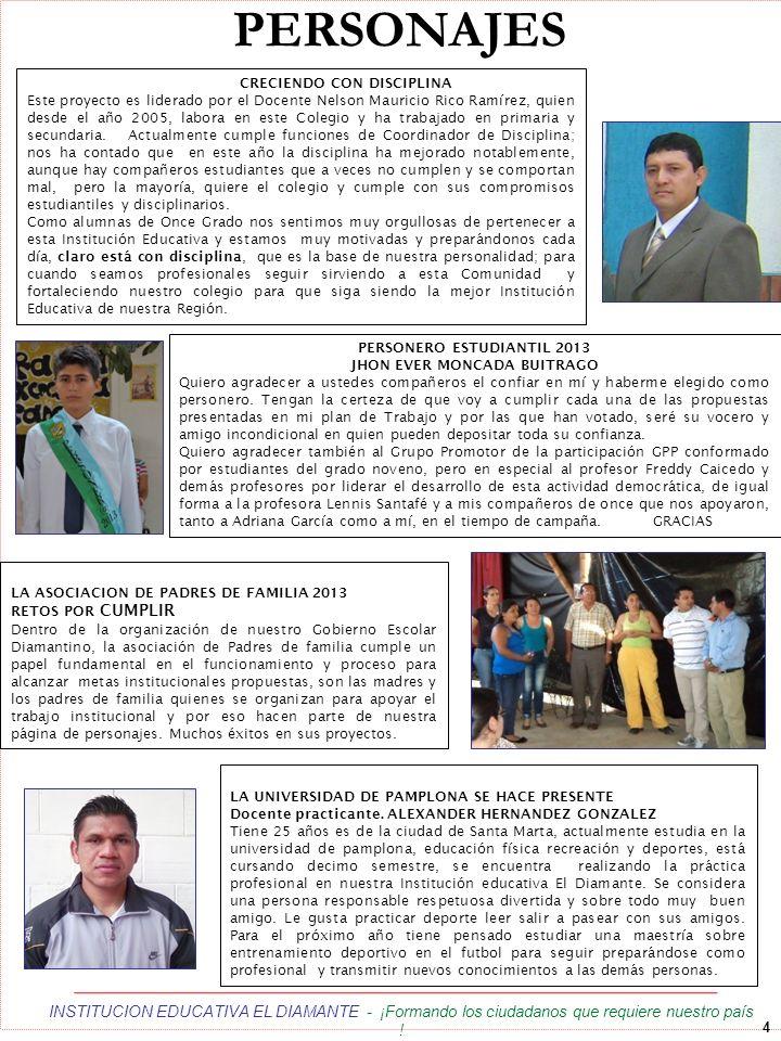 5 INSTITUCION EDUCATIVA EL DIAMANTE - ¡Formando los ciudadanos que requiere nuestro país .