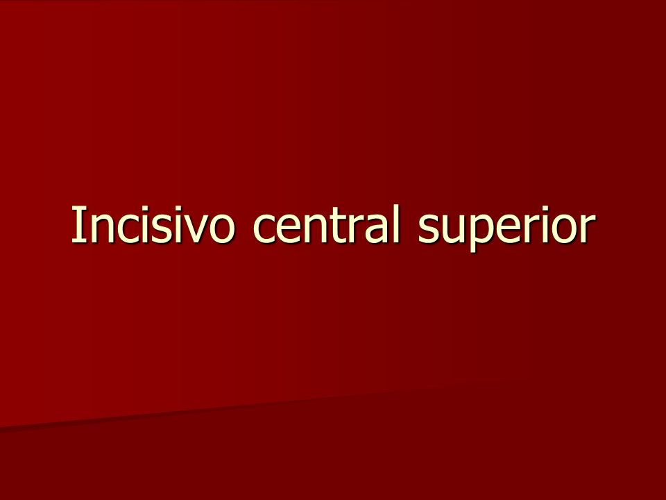 Incisivo central superior