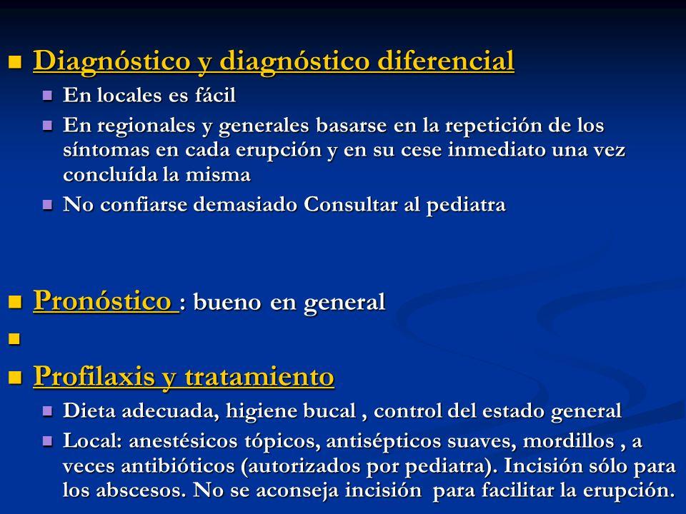 Diagnóstico y diagnóstico diferencial Diagnóstico y diagnóstico diferencial En locales es fácil En locales es fácil En regionales y generales basarse