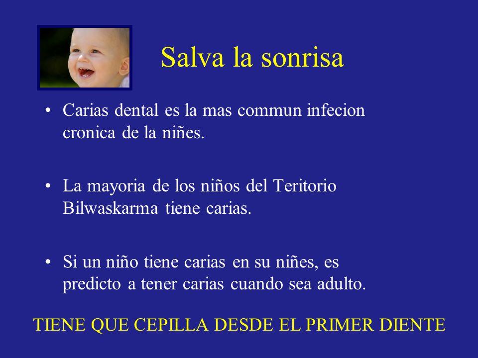 Carias dental es la mas commun infecion cronica de la niñes. La mayoria de los niños del Teritorio Bilwaskarma tiene carias. Si un niño tiene carias e