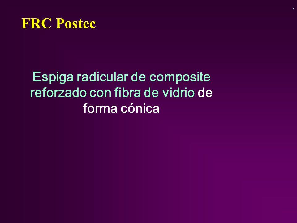FRC Postec Espiga radicular de composite reforzado con fibra de vidrio de forma cónica.