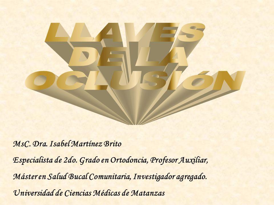 MsC.Dra. Isabel Martínez Brito Especialista de 2do.