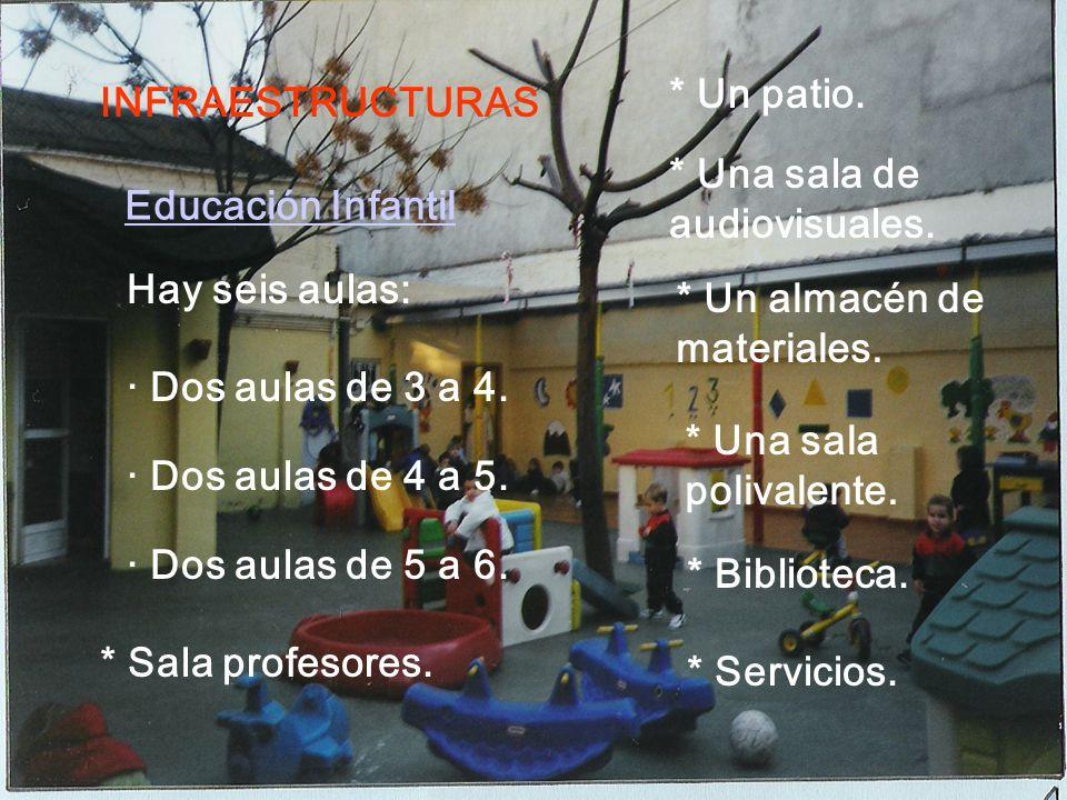 INFRAESTRUCTURAS El centro consta de: * Dos edificios (Infantil y Primaria).