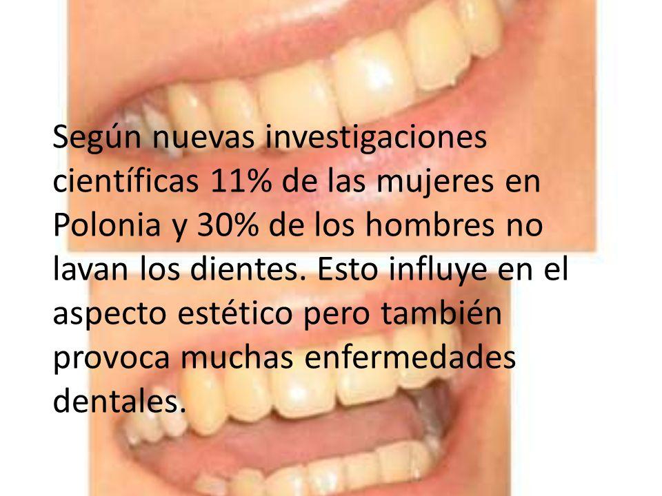 Según nuevas investigaciones científicas 11% de las mujeres en Polonia y 30% de los hombres no lavan los dientes. Esto influye en el aspecto estético