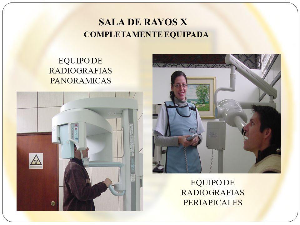 SALA DE RAYOS X COMPLETAMENTE EQUIPADA EQUIPO DE RADIOGRAFIAS PANORAMICAS EQUIPO DE RADIOGRAFIAS PERIAPICALES