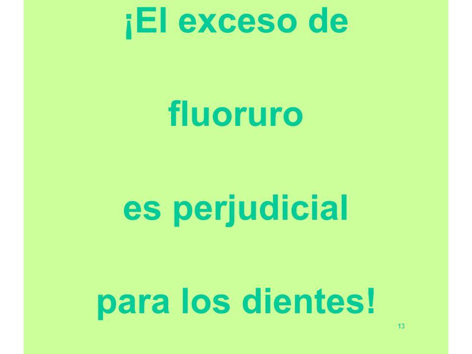 ¡El exceso de fluoruro es perjudicial para los dientes! 13