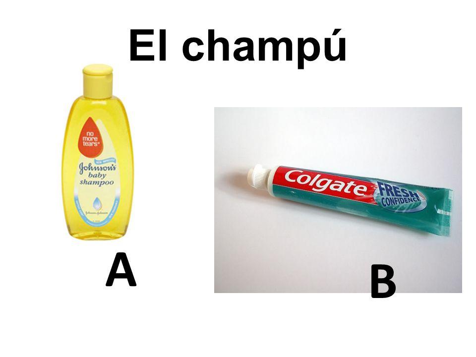 A B El champú