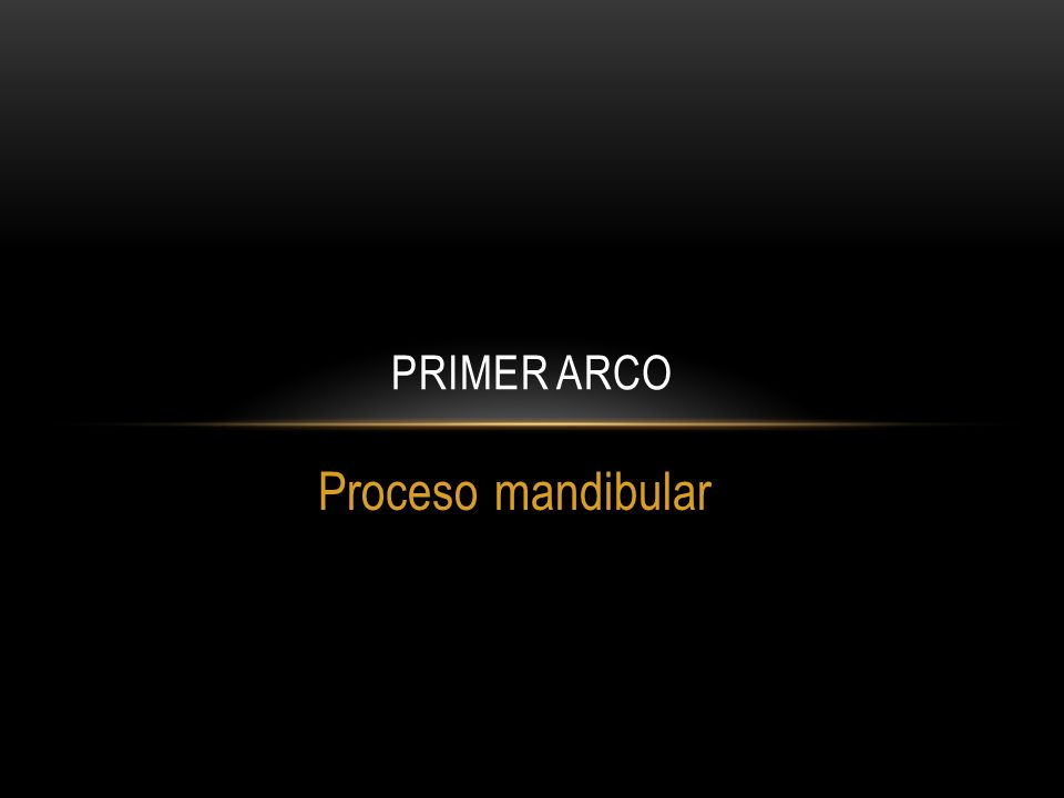 Proceso mandibular PRIMER ARCO