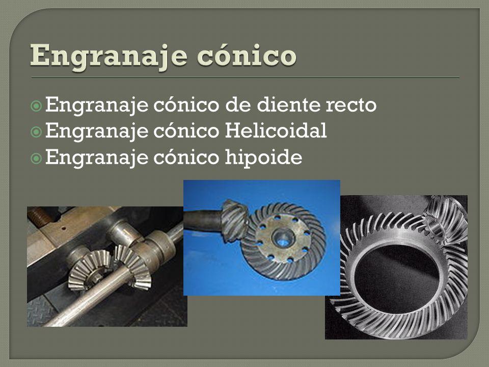 Engranaje cónico de diente recto Engranaje cónico Helicoidal Engranaje cónico hipoide
