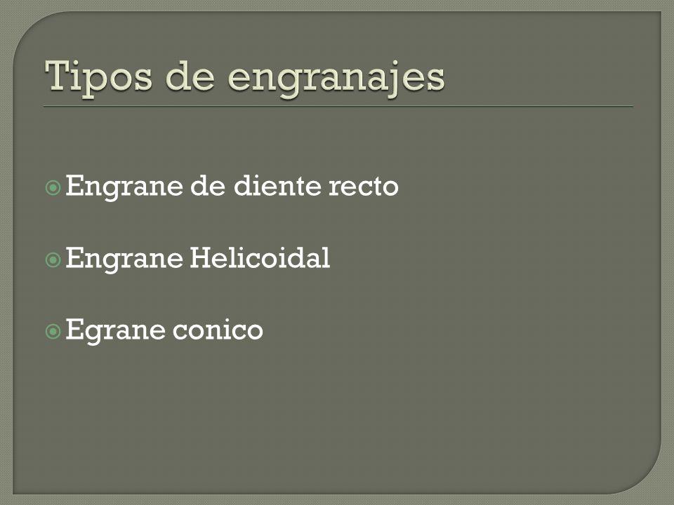 Engrane de diente recto Engrane Helicoidal Egrane conico
