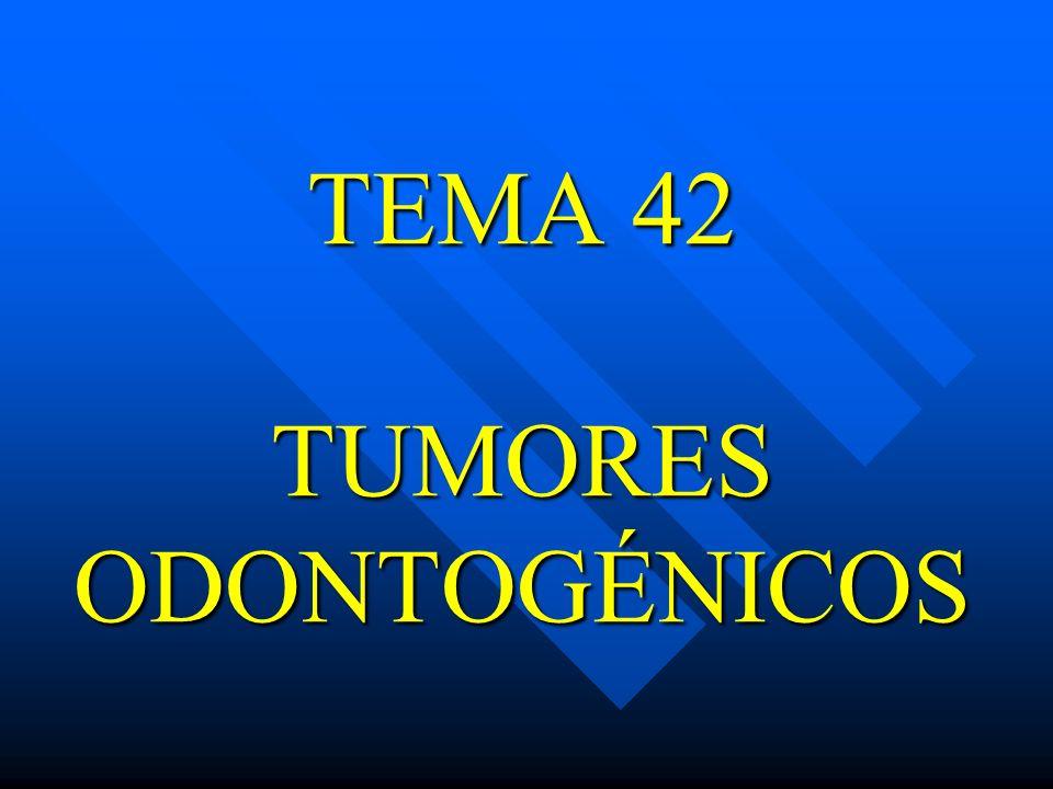 TEMA 42 TUMORES ODONTOGÉNICOS