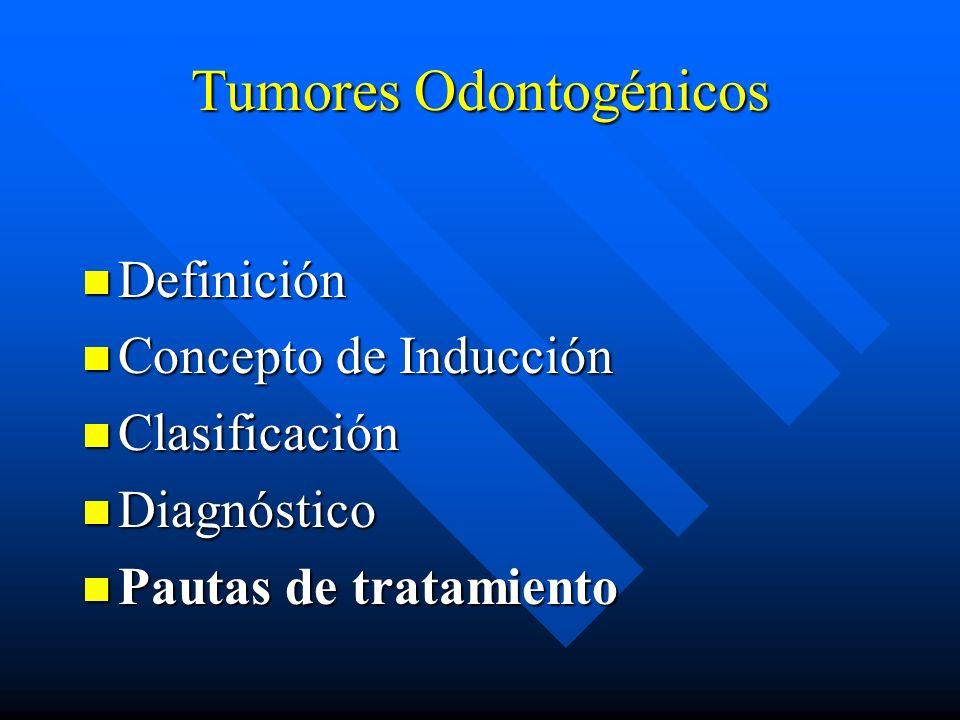 Tumores Odontogénicos Definición Definición Concepto de Inducción Concepto de Inducción Clasificación Clasificación Diagnóstico Diagnóstico Pautas de