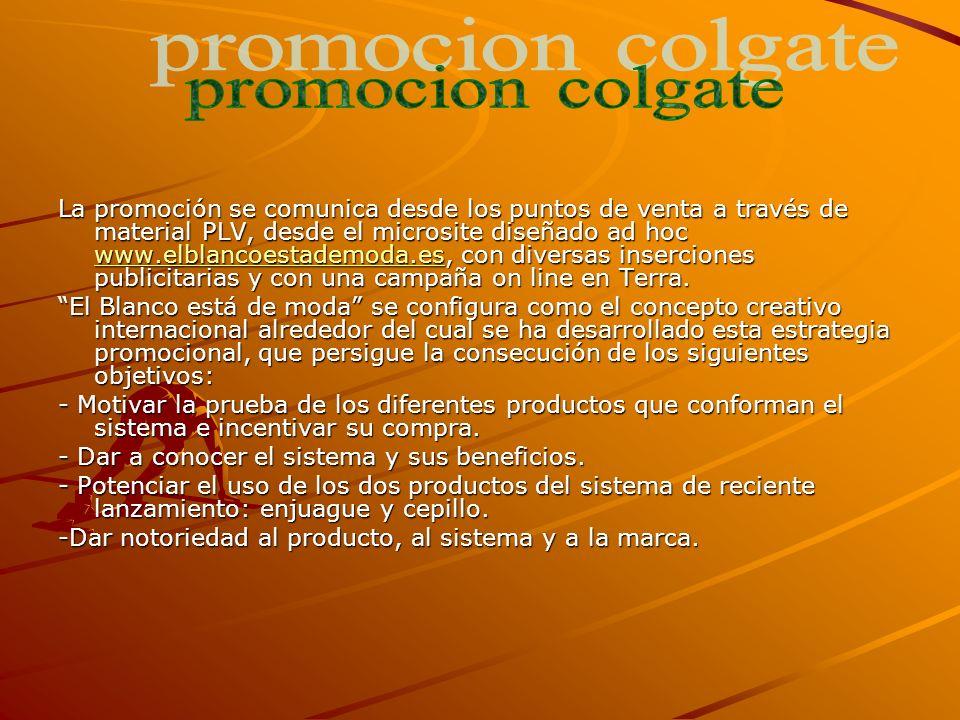 La promoción se comunica desde los puntos de venta a través de material PLV, desde el microsite diseñado ad hoc www.elblancoestademoda.es, con diversas inserciones publicitarias y con una campaña on line en Terra.