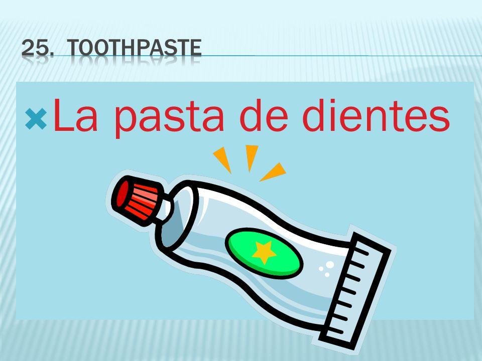 La pasta de dientes