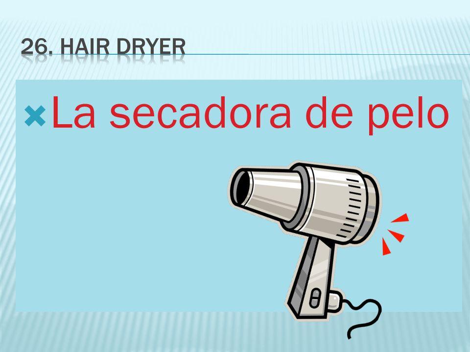 La secadora de pelo