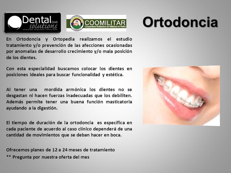 En Ortodoncia y Ortopedia realizamos el estudio tratamiento y/o prevención de las afecciones ocasionadas por anomalías de desarrollo crecimiento y/o m