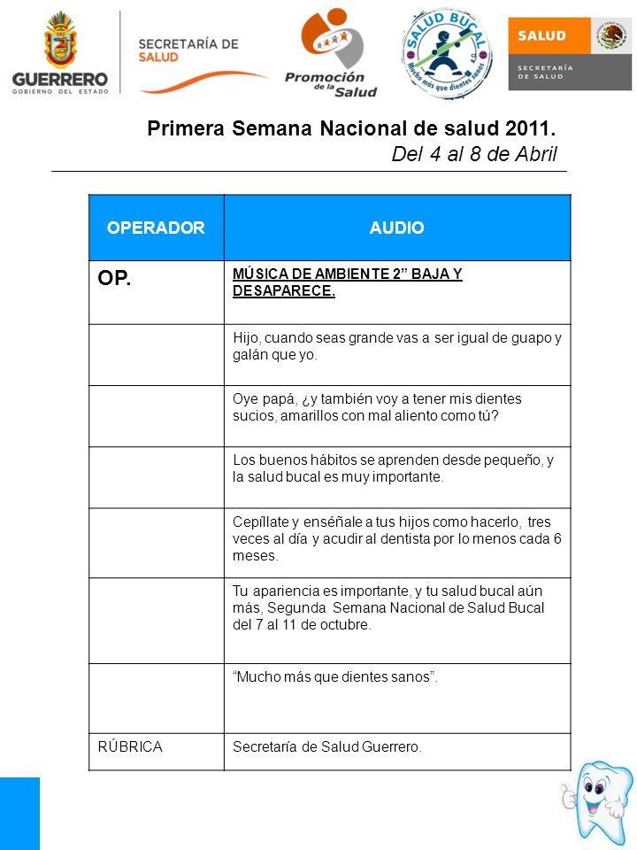 OPERADORAUDIO OP.MÚSICA DE AMBIENTE 2 BAJA Y DESAPARECE.