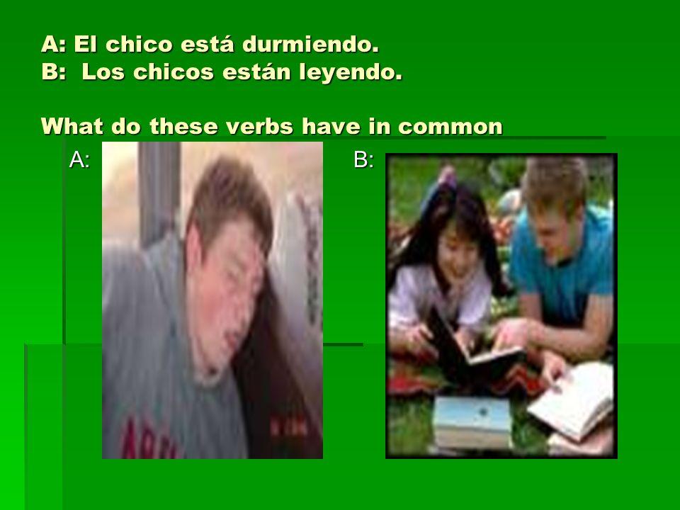 Después de la prueba… 1) Identifiquen las actividades de los niños - ¿Qué están haciendo.