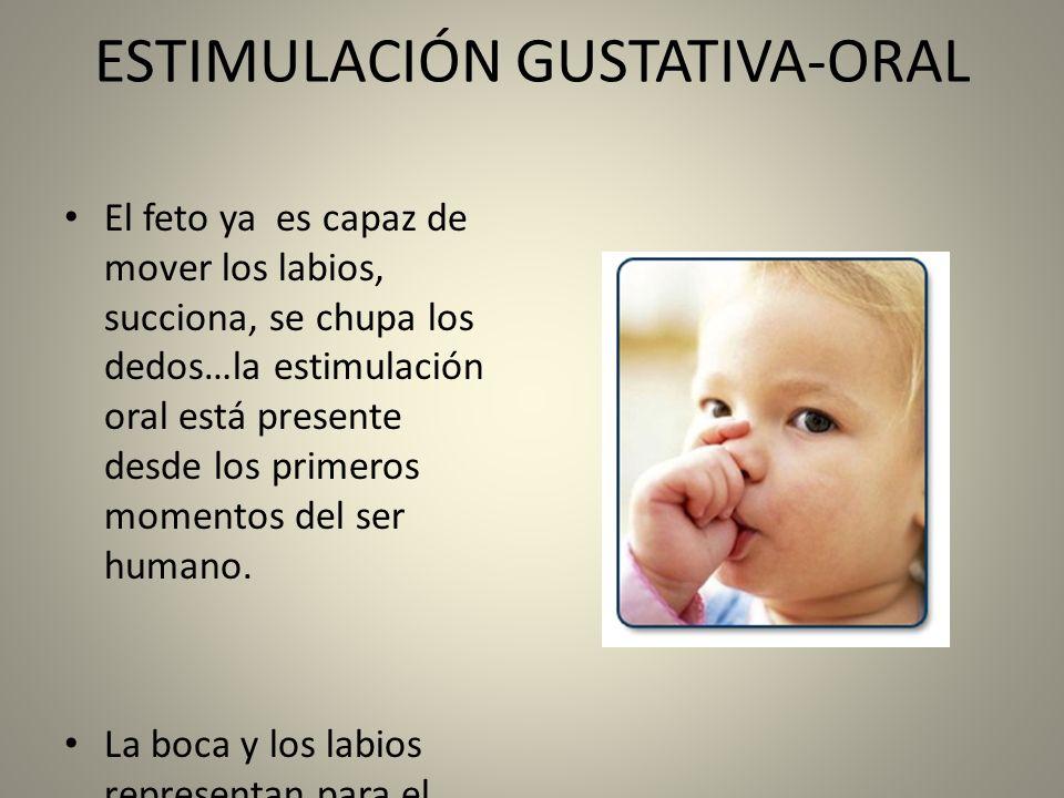 ESTIMULACIÓN GUSTATIVA-ORAL En el niño con deficiencia grave ( física y/o psíquica) todo este proceso natural se ve interrumpido debido a: Alteración sensorial bucal y peribucal ( hiper /hipo sensibilidad).