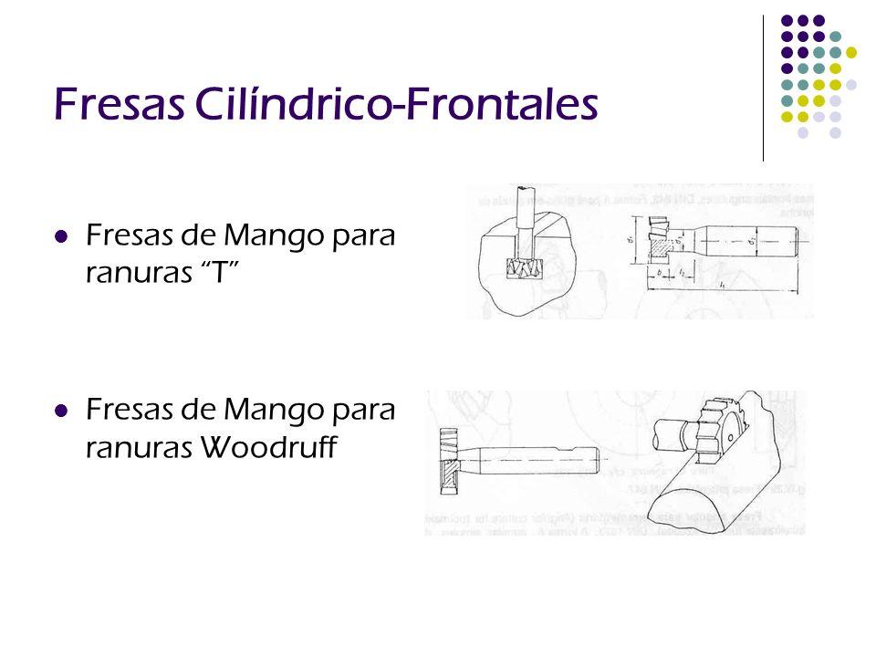Fresas Cilíndrico-Frontales Fresas de Mango para ranuras T Fresas de Mango para ranuras Woodruff