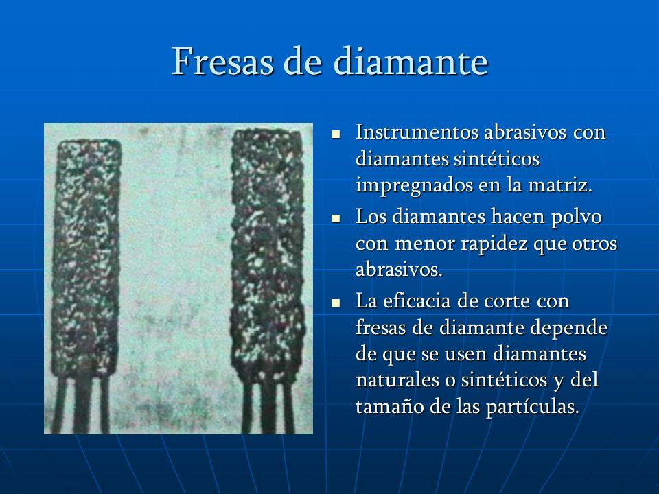 Disposición de los fragmentos de diamante A y B dan poca vibración al instrumento y un corte suave.