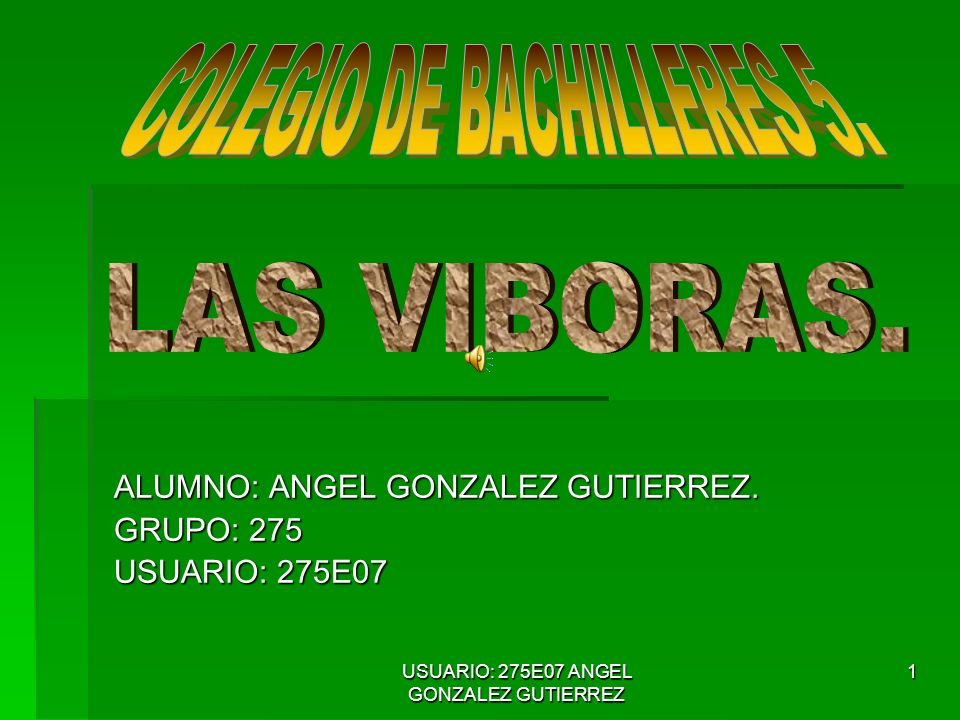 USUARIO: 275E07 ANGEL GONZALEZ GUTIERREZ 1 ALUMNO: ANGEL GONZALEZ GUTIERREZ.