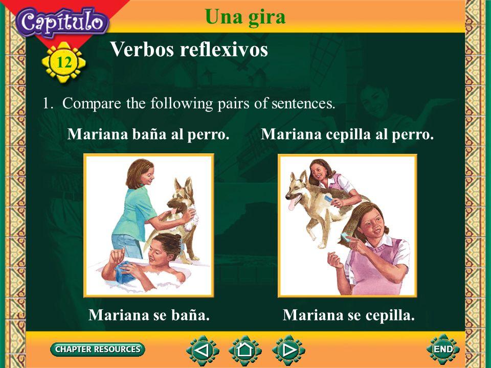 12 Choose. 1. Sandra y Margarita hacen un viaje económico por Argentina. ¿Qué llevan en la mochila? a. un cepillo de dientes y un tubo de pasta dentíf